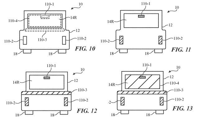 苹果汽车新专利:外部照明和警告系统