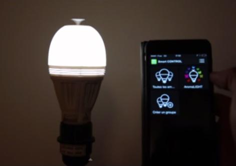led智能灯泡设计精巧 散发香味