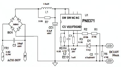 移动紫外线灯定时与电源开关连接线路图