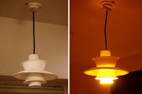 用一次性纸杯制作蘑菇台灯